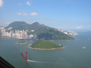 Hong Kong / Victoria Harbour / View from the Helicopter