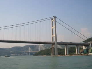 Hong Kong / Victoria Harbour / Tsing Ma Bridge